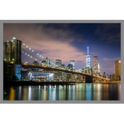Obraz podświetlany - Most nocą